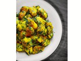 Soya Saag Aloo (Indian Potatoes Dill Leaves Recipe)