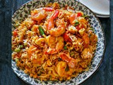 Spicy Shrimp Fried Rice (Authentic Restaurant Style)