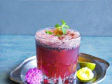 Sweet Salty Blueberry Lemonade (Masala Soda)