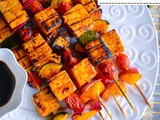 Sweet-Spicy Thai Basil Tofu Skewers