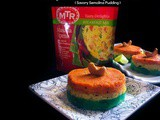 Three Colored Breakfast Masala Upma (Savory Semolina Pudding)