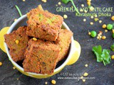 Green pea and lentil cake (koraishutir dhoka)