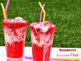 Raspberry icecream float