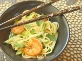 A Treat for Mr. Procrastination:  Garlic Noodles with Crispy Shrimp