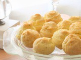 Goodbye to Downton Abbey: Cheese and Chive Gougeres