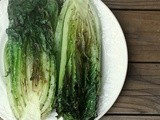 Grilled Romaine Salad with Pan Roasted Tomato Vinaigrette