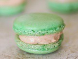 Happy St. Patrick's Day 2015: Hint o' Mint Macarons with Irish Cream Buttercream Filling