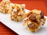 One For Miss Eva:  Buttery Toffee Apple Popcorn Balls