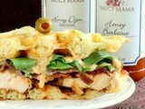 Saucy Mama's 2014 Recipe Contest: Honey Dijon Fried Chicken and Bacon Wafflewiches
