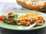 Support for Sandy Blogger Event:  Chicken Enchilada Macaroni and Cheese