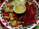 Corned Beef, Cabbage and Potatoes with Caper Horseradish Sauce