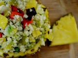 Time to Get Tropical ….Tropical Cauliflower Rice Salad
