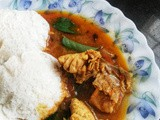 Chicken Kuzhambu - with Idli - Weekend Special Breakfast