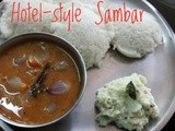 Tiffin Sambar for Idli/Dosa - Hotel Style