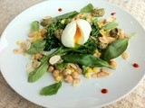 A good egg, greens and and a salsa with a kick