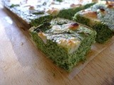 Baked Kale, Broccoli, Mint and Goat Cheese Frittata