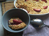 Baked Plum and Almond Oatmeal