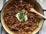 Beef Stroganoff (with a dairy free option)
