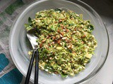 Brussel Sprout and Mustard Cream Slaw