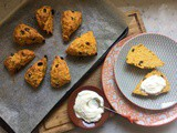 Butternut Squash, Rosemary and Raisin Spelt Scones