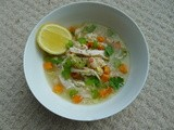 Chicken, Lemon and White Bean Soup (a video and a hug in a bowl)