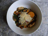 Chicken, Mushroom, Sweet Potato and Borlotti Bean Braise