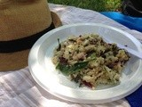 Chicken, Quinoa, Eggplant, Kale, Basil and Fennel Picnic Salad