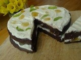 Chocolate rum cake with lime and ginger (a dark and stormy layer cake)