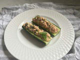 Cucumber Boats with Tuna Salad