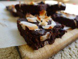 Flourless (nut free) Pomegranate and Coconut Brownies