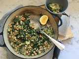 Lazy Broccoli with Chickpeas and Garlic