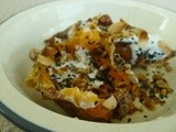 Perfect side; sweet potatoes with brown butter, yogurt and seeds