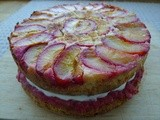 Rhubarb, almond, plum and yogurt cake - a celebration
