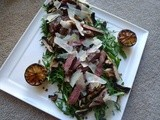 Steak Tagliata with Lentils and Mushrooms
