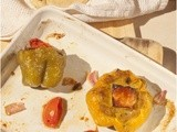 Stuffed Bellpepper with Grilled Feta ~Bharwan Simla Mirch~