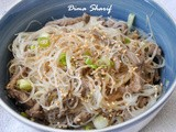 Guest Post: Quick Asian Beef and Rice Noodle Salad by Dima Sharif