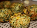 Corn and Spinach Muffins