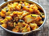 Aloo Gobi Recipe - Dry Aloo Gobi Sabzi Recipe - Potato Cauliflower Dry Curry