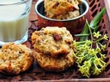 Eggless Banana Oatmeal Chocolate Chip Cookies Recipe