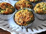 Spinach Feta Muffins - Savory Muffin Recipe (Eggless Option Included)
