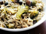 The Best Broccoli Mushroom Fried Rice, Step by Step Recipe