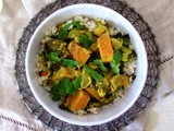 Eggplant + Sweet Potato Curry with Coconut Milk