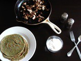 Savory Spinach Crepes with Sautéed Mushrooms