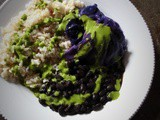 Simple Black Bean and Rice Bowls with Cilantro Green Sauce