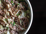 Soba Bowl with Braised Cabbage + Tahini Dressing from Eat This Poem