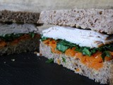 Turkey Sandwich with Carrots, Kale and Dukkah