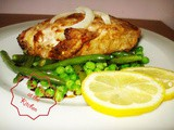 Grilled Catfish with Green Beans and Peas Salad