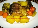 Grilled Salmon with Vegetables / Salmon Panggang Sayuran