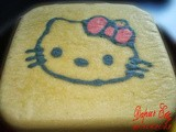 Steamed White Cake Hello Kitty / Kue Putih Telur Kukus Hello Kitty