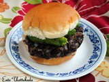 Black Beans and Avocado Burger